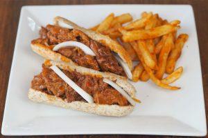 No Bull BBQ Ribs Sandwich